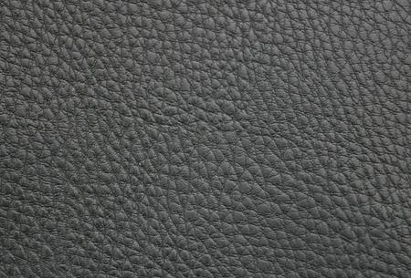 imitation leather: texture sample of the black imitation leather Stock Photo