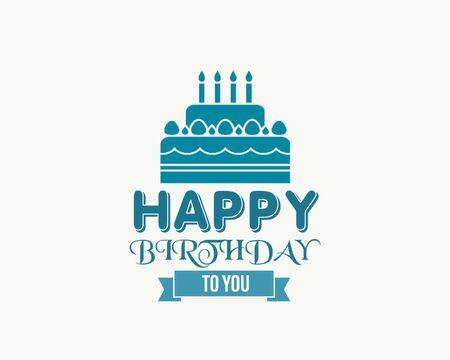 Happy birthday colorful card design, happy birthday card