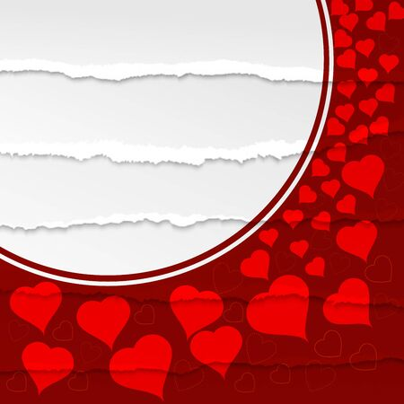 Valentines Day Background on the red paper background. Archivio Fotografico - 137369028