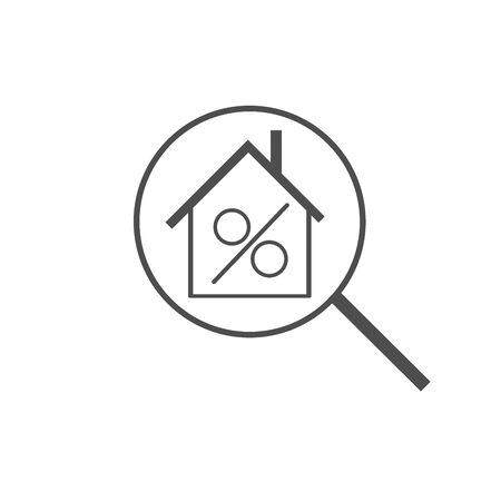 Interest rates concept flat icon on the white background.