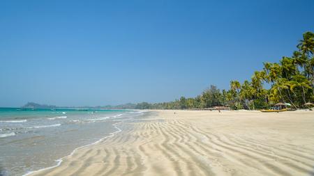 ガパリビーチ ミャンマー 写真素材