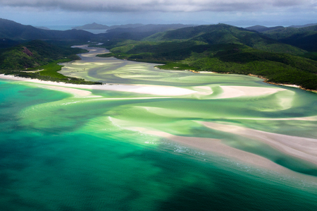 whitehaven beach: Scenic flight over Whitehaven Beach, Whitsunday Islands