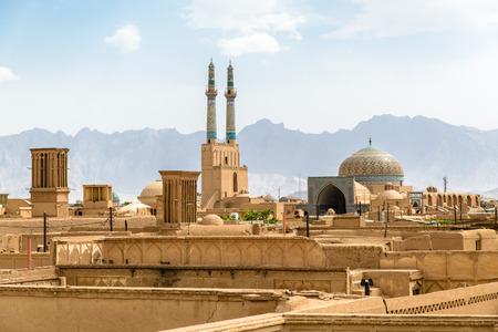 View over Old City of Yazd, Iran Фото со стока