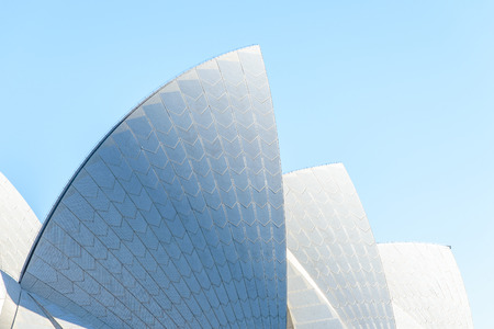 SYDNEY - AUGUST 25, 2014: roof of Sydney Opera House - one of the UNESCO world heritage sites