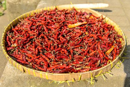 souq: Red peppers, Tetebatu, Lombok