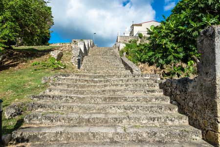 stairs of slavery in Petit-Canal, Guadeloupe