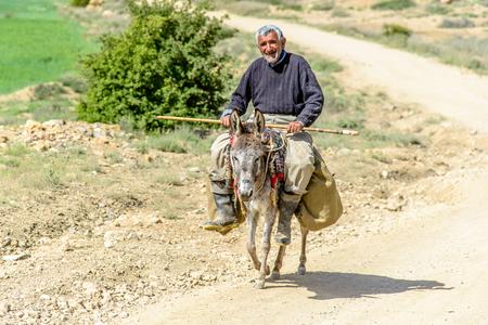 ロバ BADAB E スルト、イラン - 2015 年 5 月 3 日: イラン農家 報道画像