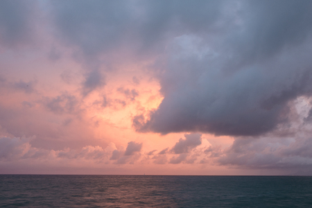 cloudscapes at sunset in the Caribbean