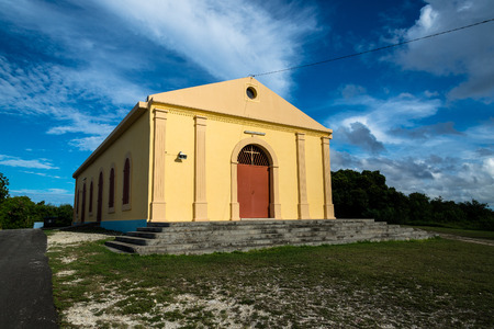 GROS CHAP, GUADELOUPE - OCTOBER 17, 2015: chapel of Gros Cap Editorial