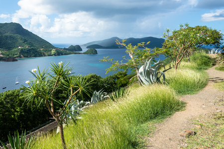 Lookout from Fort Napoleon, Terre-de Haut, Islands of the Saints (Iles des Saintes), Guadeloupe Stock Photo - 71145298