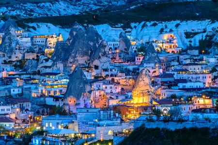 夜、カッパドキア ギョレメ, トルコ - 2015 年 5 月 7 日: ギョレメ 報道画像