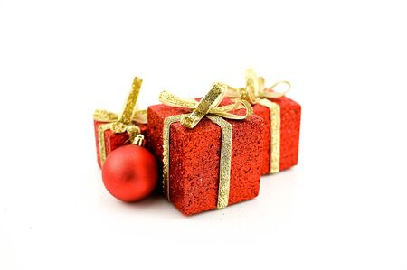 Christmas, holiday, celebrations, decoration and christmas gifts