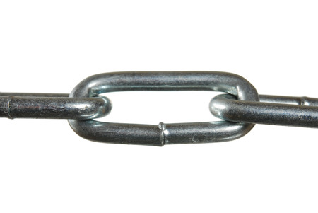 chain links: The chain links on a white background
