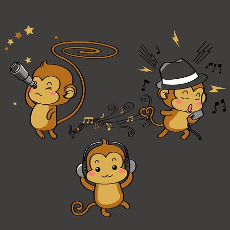 gazing: Three Wise Monkeys Illustration