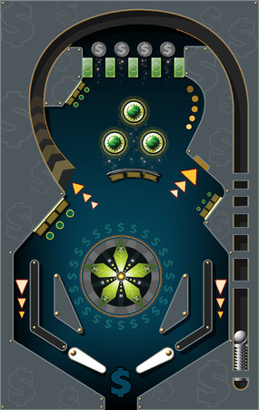 pinball: Money Pinball Illustration