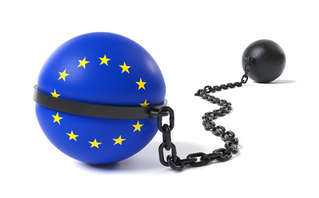 restraint: The European Union hold back by a Ball and Chain restraint device
