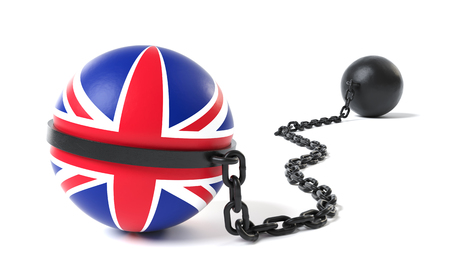 United Kingdom hold back by a Ball and Chain restraint device