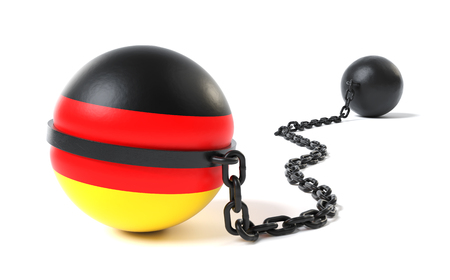 Germany hold back by a Ball and Chain restraint device
