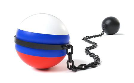 Russia hold back by a Ball and Chain restraint device