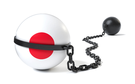 Japan hold back by a Ball and Chain restraint device Фото со стока