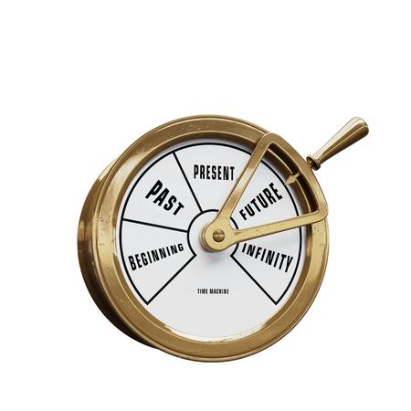 Schiffstelegraph-Zeitmaschine, die in die Zukunft geht Standard-Bild