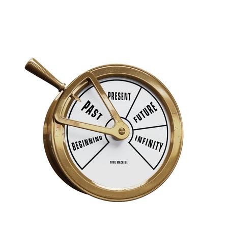 Barco máquina del tiempo del telégrafo yendo al pasado