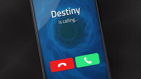Llamada entrante de Destiny en un teléfono inteligente