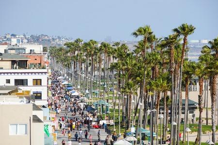 The Ocean Boardwalk at Venice Beach