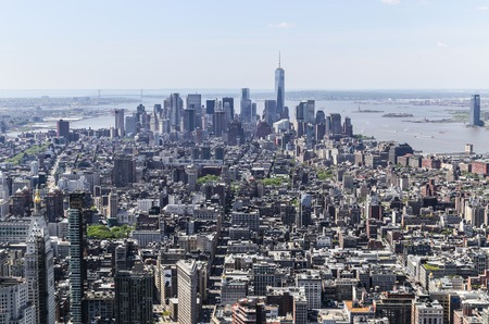 visions of america: Downtown Manhattan from above