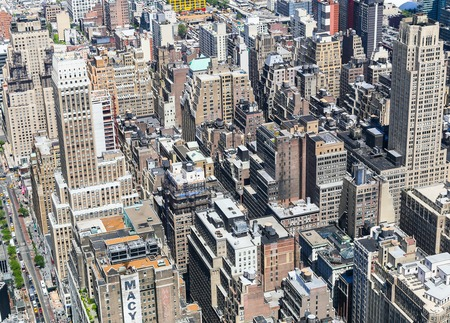 visions of america: Partial View of Manhattan from above Editorial