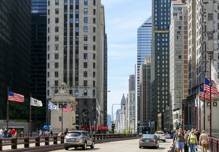 illinois river: Michigan Avenue in Chicago
