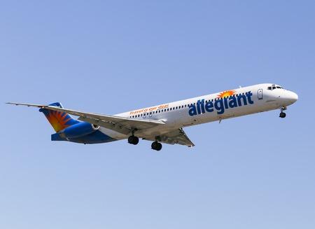 Airplane of Allegiant Air in Los Angeles