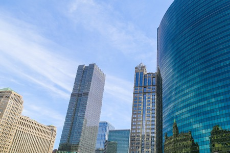 merchandise mart: Several high-rise buildings in Downtown Chicago