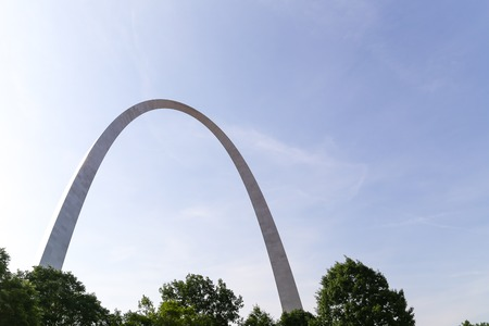 st louis: Upper part of the Gateway Arch in St. Louis