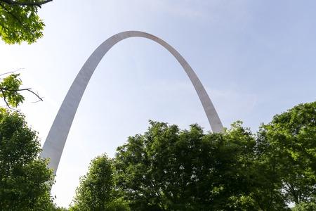 st  louis arch: Gateway Arch in St. Louis seen through trees