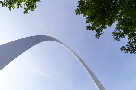 louis: Part of the Gateway Arch in St. Louis