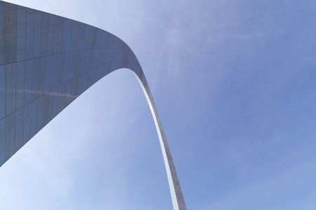 st  louis arch: Looking up to the Gateway Arch in St. Louis Stock Photo