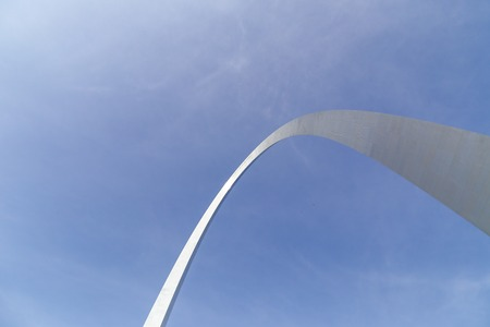 st louis: Part of the Gateway Arch in St. Louis
