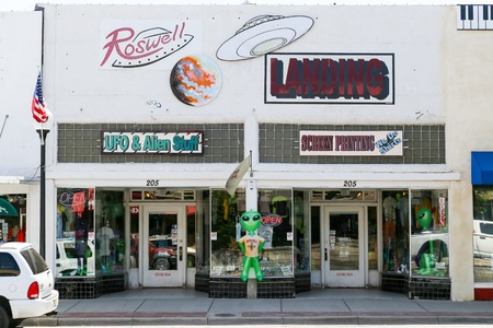 roswell: Gift shop named Roswell Landing in Roswell, New Mexico Editorial