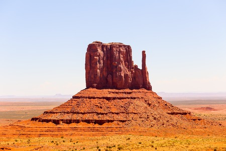 butte: Famous rock formation East Mitten Butte in Monument Valley.