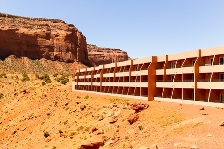 monument valley view: The View Hotel in Monument Valley.
