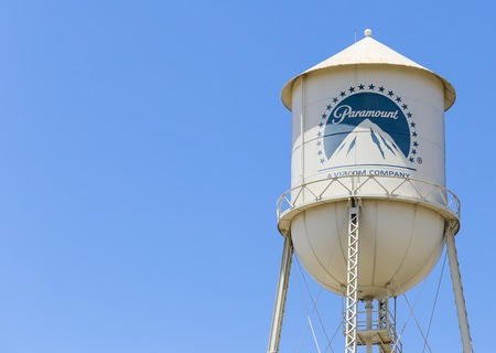 The famous Water Tower of the Paramount Studios in Los Angeles. Editorial