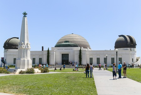 griffith: The Griffith Observatory in Los Angeles seen from the front right.