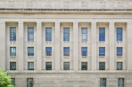 Kennedy: The Robert F. Kennedy Department of Justice Building in Washington DC.