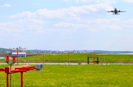 ronald reagan: An airplane departing from Ronald Reagan National Airport in Washington DC.