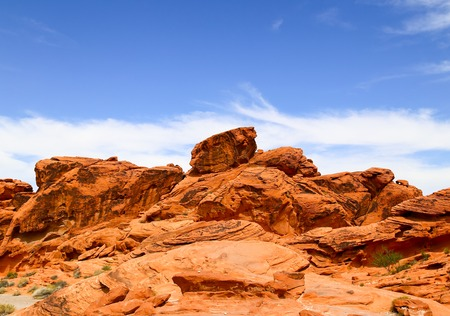 Rock Formations in the Valley of Fire State Park in Nevada, USA Stock Photo