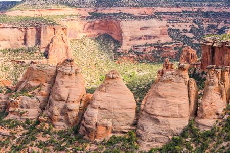 コークス炉でコロラド国定公園と呼ばれる岩の形成。