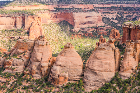 The rock formation called the Coke Ovens in the Colorado National Monument.