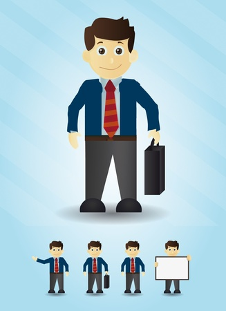 Businessman cartoon office illustrations