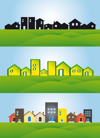 City illustration background